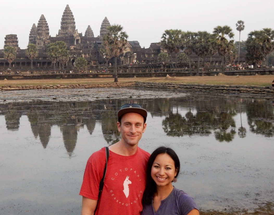 Mark and Britnee in Cambodia