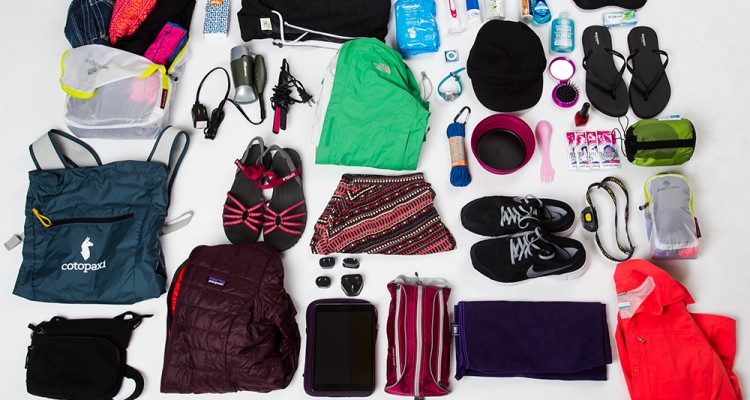 Packing list, travel, gear, what should I pack, packing for vacation, packing for a year of travel, RTW packing list, The North Face, Patagonia, Clothing, Shopping for vacation, Sea to Summit, Kelty, iPad, Quicksilver, Under Armor, Columbia Clothing,
