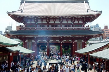 Sensoji, a Buddhist temple built in the 7th century in Asakusa, Tokyo.   Photo by Britnee Johnston