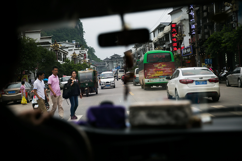 Driving in China, Renting a scooter, Yangshuo, Xingping,