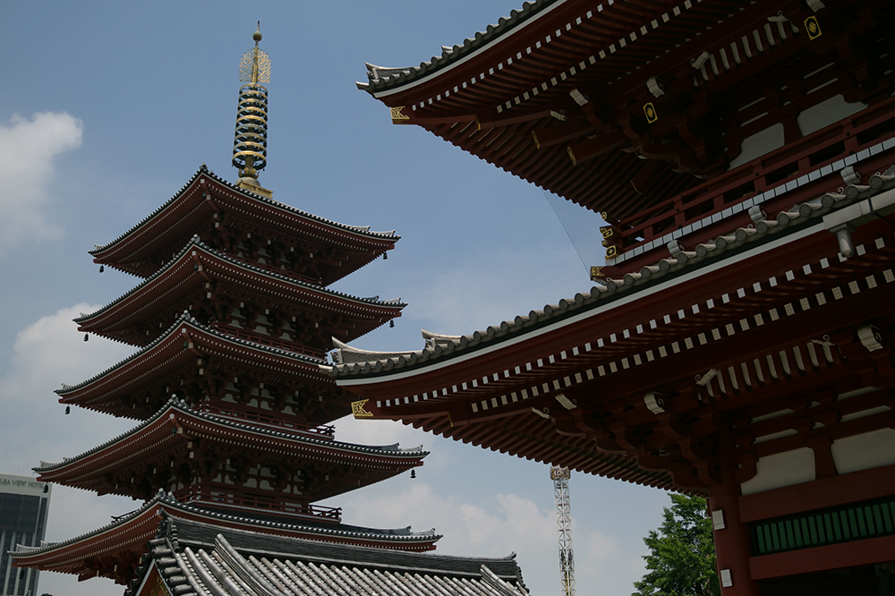 Sensoji, a Buddhist temple built in the 7th century in Asakusa, Tokyo.