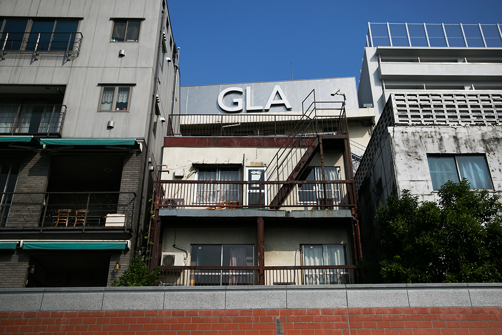 Our hostel in Asakusa, Tokyo. Yup, the one in the middle.