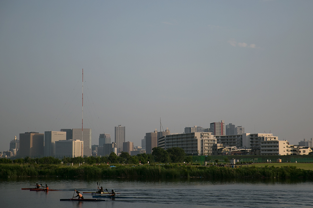 The Tamagawa River.