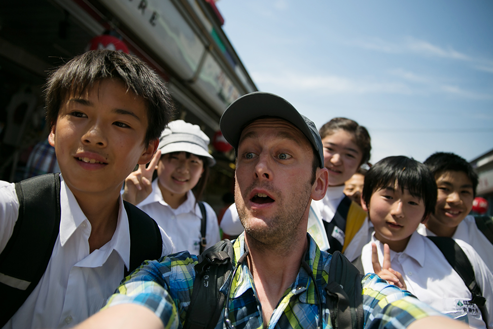 Mark gets interviewed by school children for the second time in Tokyo.
