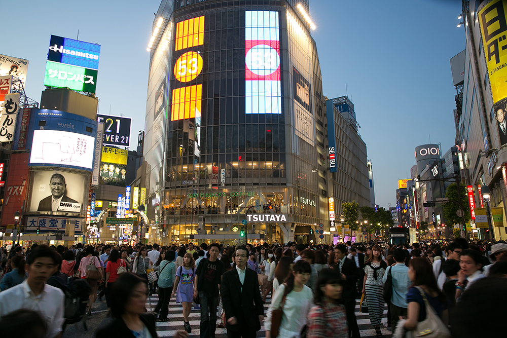 Shibuya Crossing in Tokyo. Photo by Mark Johnston