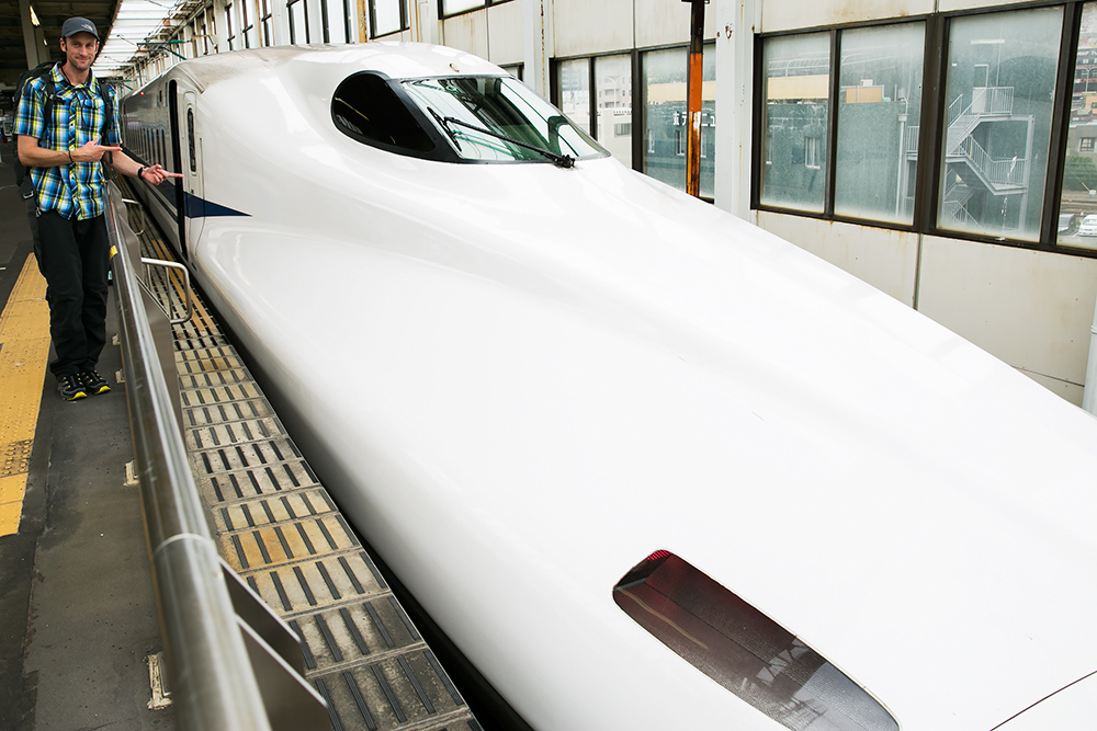Mark with the Bullet Train