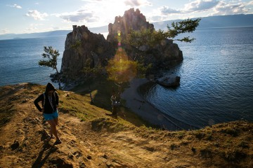 Khuzhir, Olkhon Island, Lake Baikal, Travel, Backpacking, Russia, Trans Mongolian Railway, Irkutsk, Epiphany Cathedral, Church, Beach, Shaman Rock,