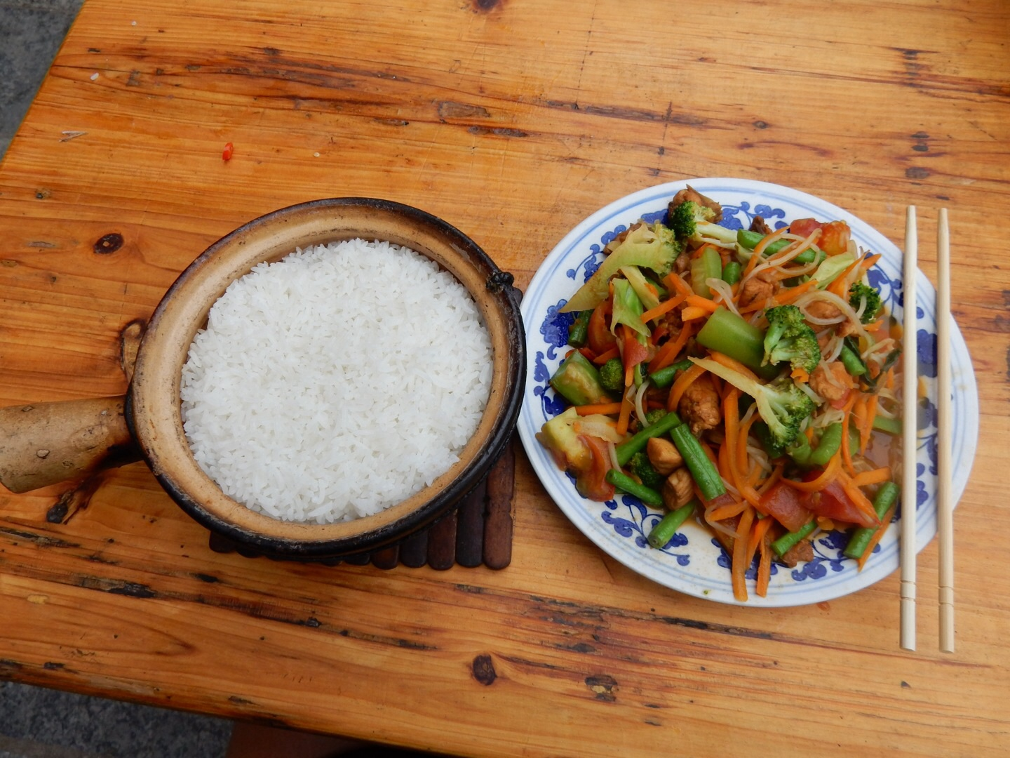 Chinese Stir-Fry in Yangshuo, China