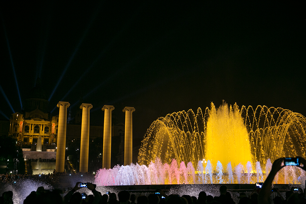The Magic Fountain in Barcelona, Spain