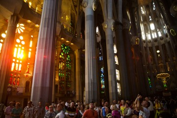 Sagrada Familia, Barcelona, Spain, Antoni Gaudi, Gaudi, Roman Catholic Church,