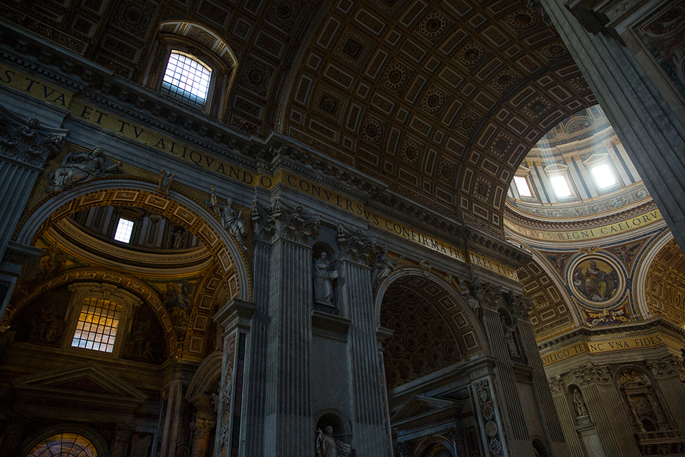 Inside St. Peter's Basilica in the Vatican City
