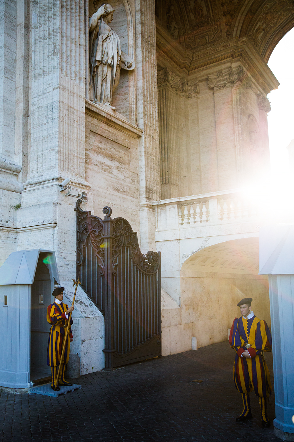 The Swiss Guard at the Vatican City
