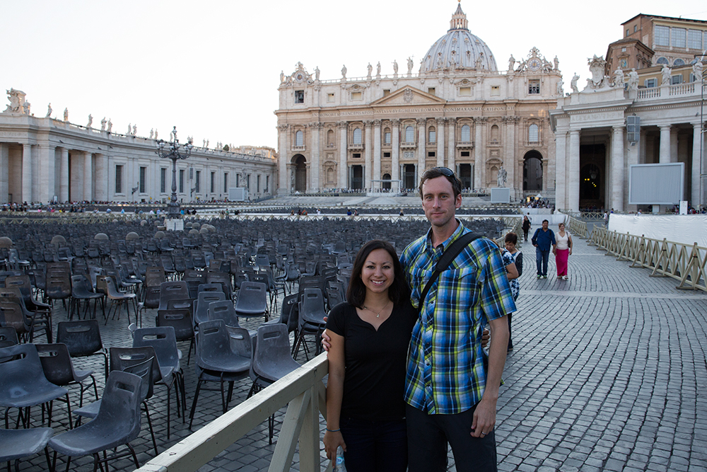 Finally got a photo together at the Vatican City