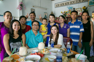Britnee with family in Vietnam