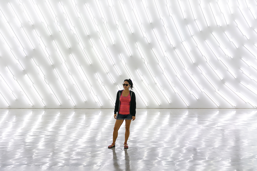 Britnee in the Museum of Contemporary Art Australia in Sydney.
