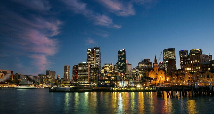 Sydney, Australia, at night