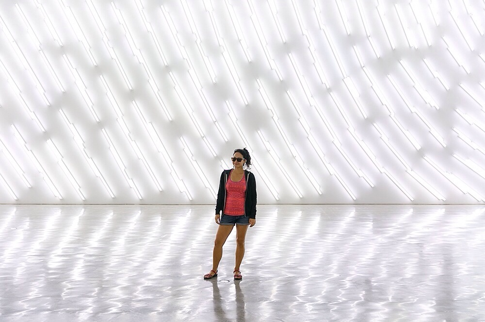 Light exhibit at the Museum of Contemporary Art in Sydney