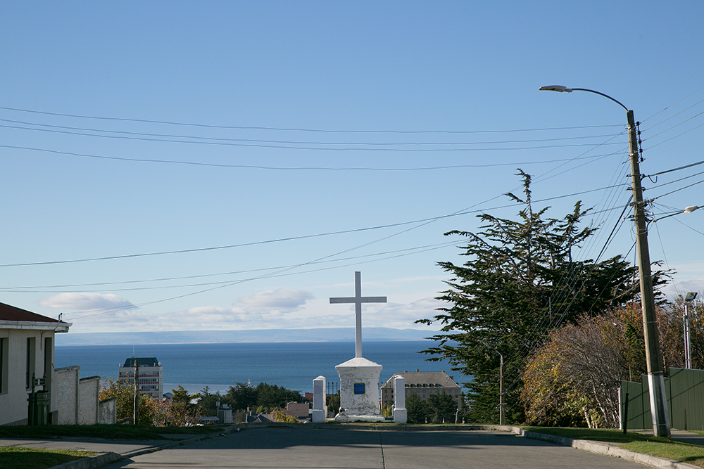 High above the Strait of Magellan in Punta Arenas, Chile.