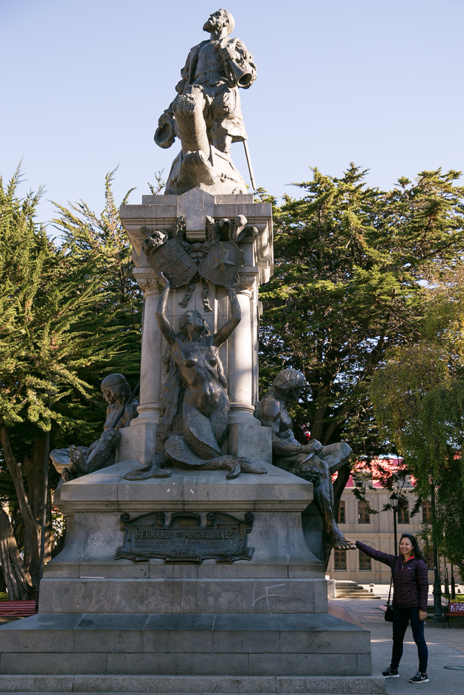 Magellan's monument in Punta Arenas, Chile.