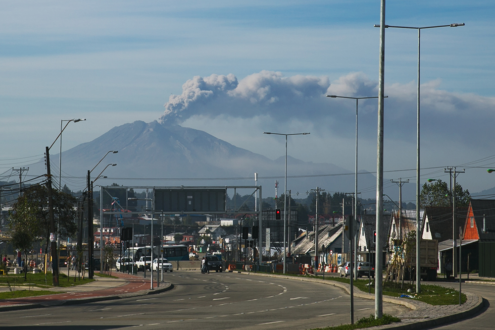 We had a nine-hour layover in Puerto Montt, Chile, which allowed us to get a good look at Volcano Calbuco!