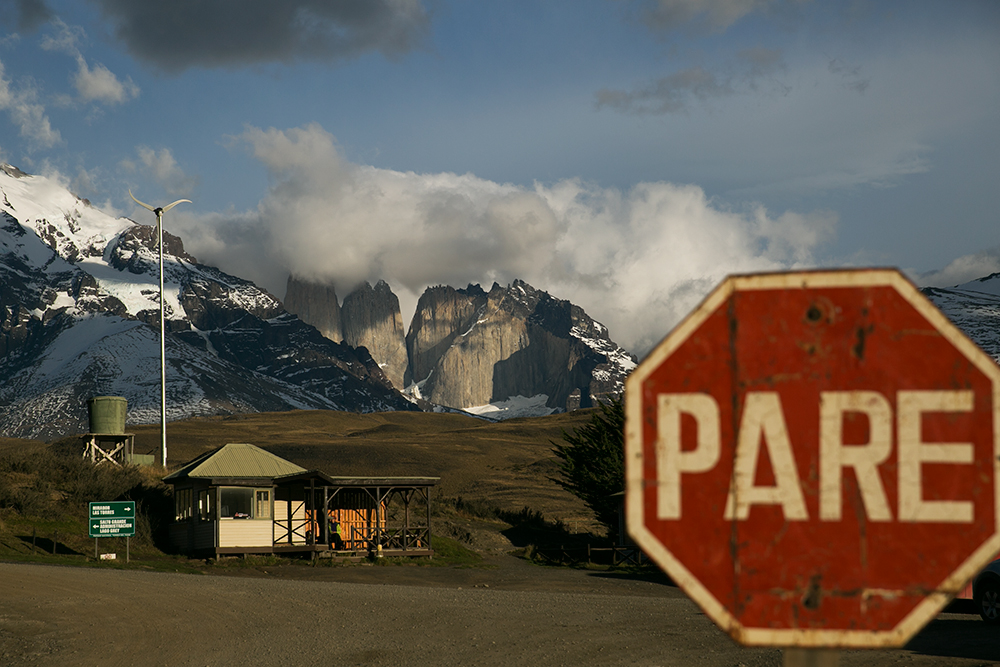 Transferring to our bus to take us further into the park at Torres del Paine, Chile.