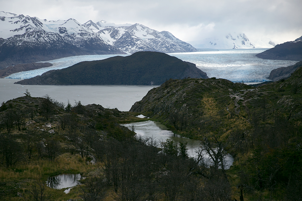 On our way to Glacier Grey, (seen in the distance), in Torres del Paine, Chile.