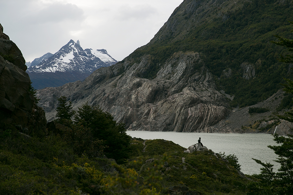 Lago Grey in Torres del Paine, Chile.