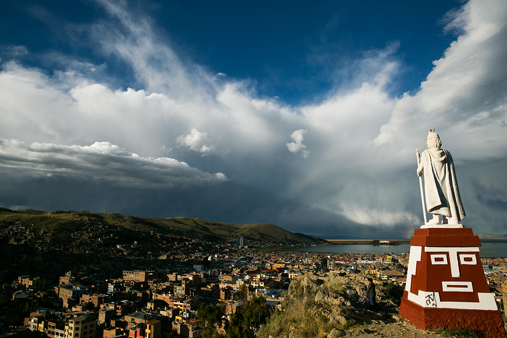 Exploring the beautiful town of Puno, Peru.