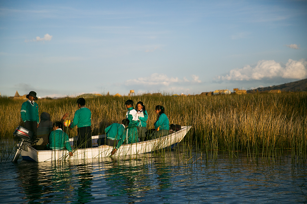 We took a short afternoon tour out to the floating villages of the Uru people on Lake Titicaca in Peru.