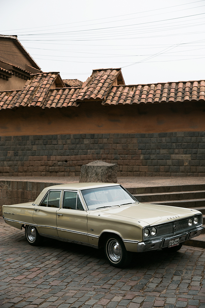 A classic Dodge on the street in Cusco, Peru.