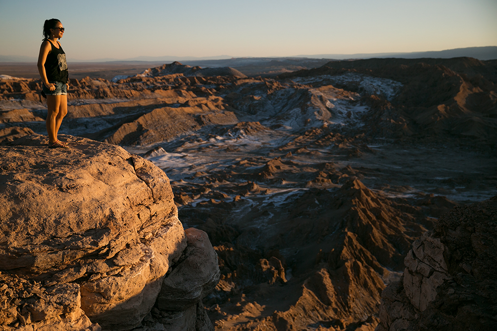 A viewpoint overlooking Valle de la Luna outside San Pedro de Atacama, Chile.