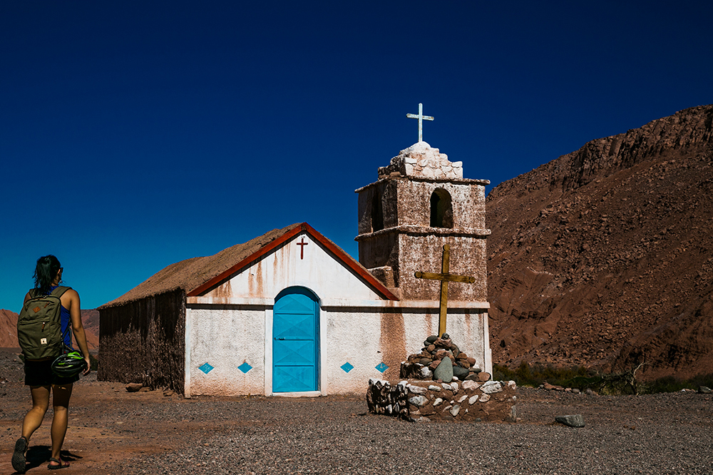 A beautiful old church we found while exploring outside San Pedro de Atacama, Chile.