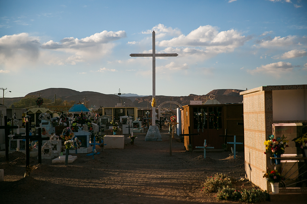 The cemetery in San Pedro de Atacama, Chile.