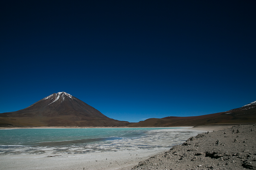 Laguna Verde, (Green Lagoon), the first of many that we'd see on our crossing to Uyuni, Bolivia.