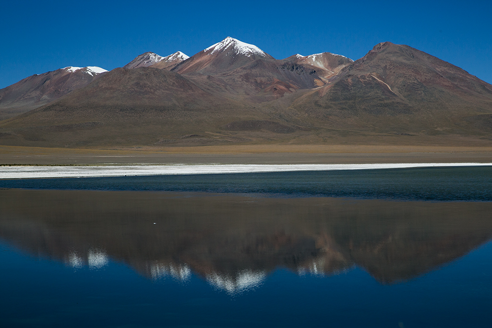 One of many lagoons along the way to Uyuni, Bolivia.