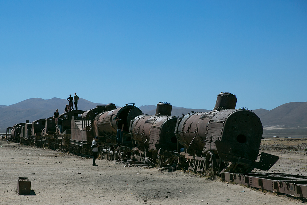 The train cemetery outside Uyuni, Bolivia.