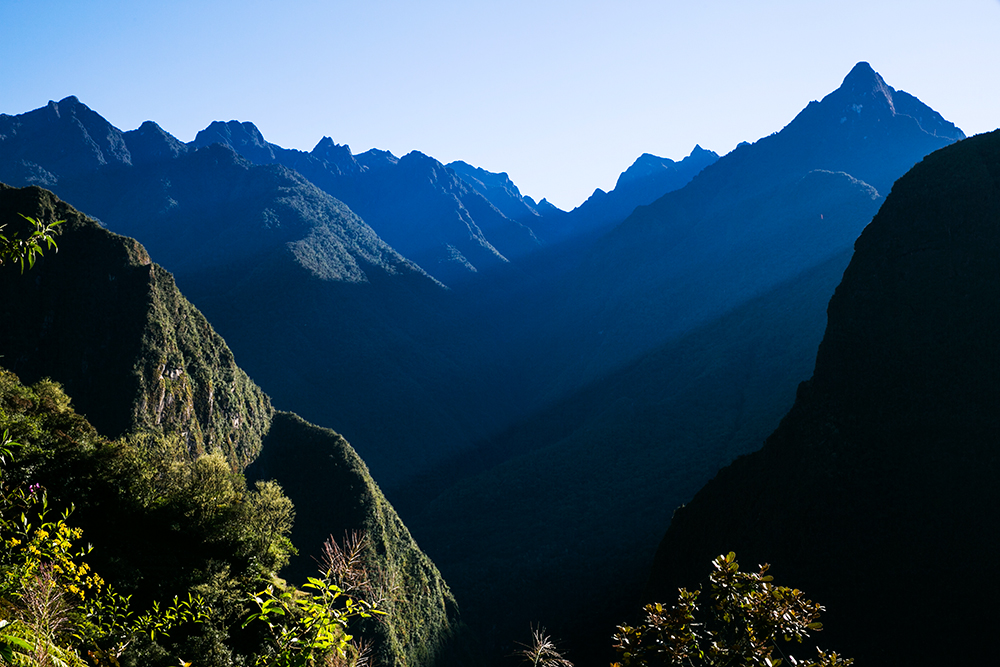 Lovely morning light on the hike up to Machu Picchu from Aguas Caliente in Peru.