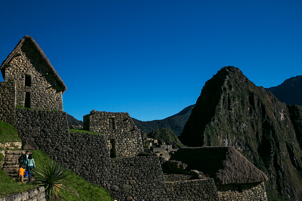 Our first glimpse of the world-famous Inca ruins of Machu Picchu in Peru.