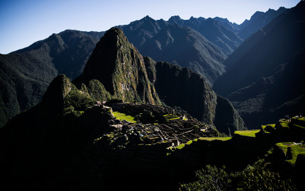 Breathtaking view of Machu Picchu in Peru at a lovely spot where we lay down to rest.
