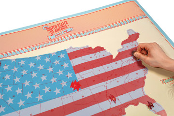 road trip, scratch map, Luckies of London, Scratch Map USA, USA Scratch Map, United States of America, Fourth of July, Independence Day, Map, Travel, Road Trip,