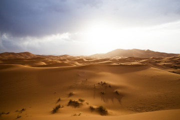 We were happy to stop and dismount for an incredible view across the Erg Chebbi dunes as sunset approached.