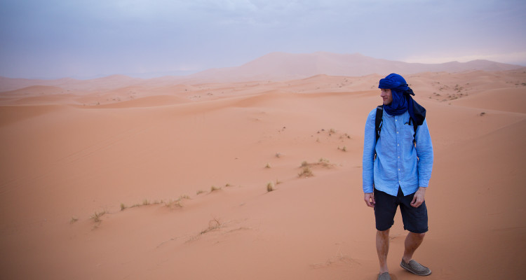 These turbans are no joke. You can't live without one in the Sahara!