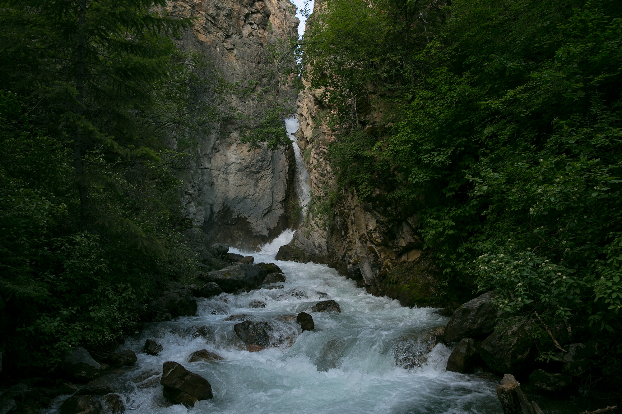 The waterfall in Sinclair Canyon in Kootenay National Park just outside Radium Hot Springs.
