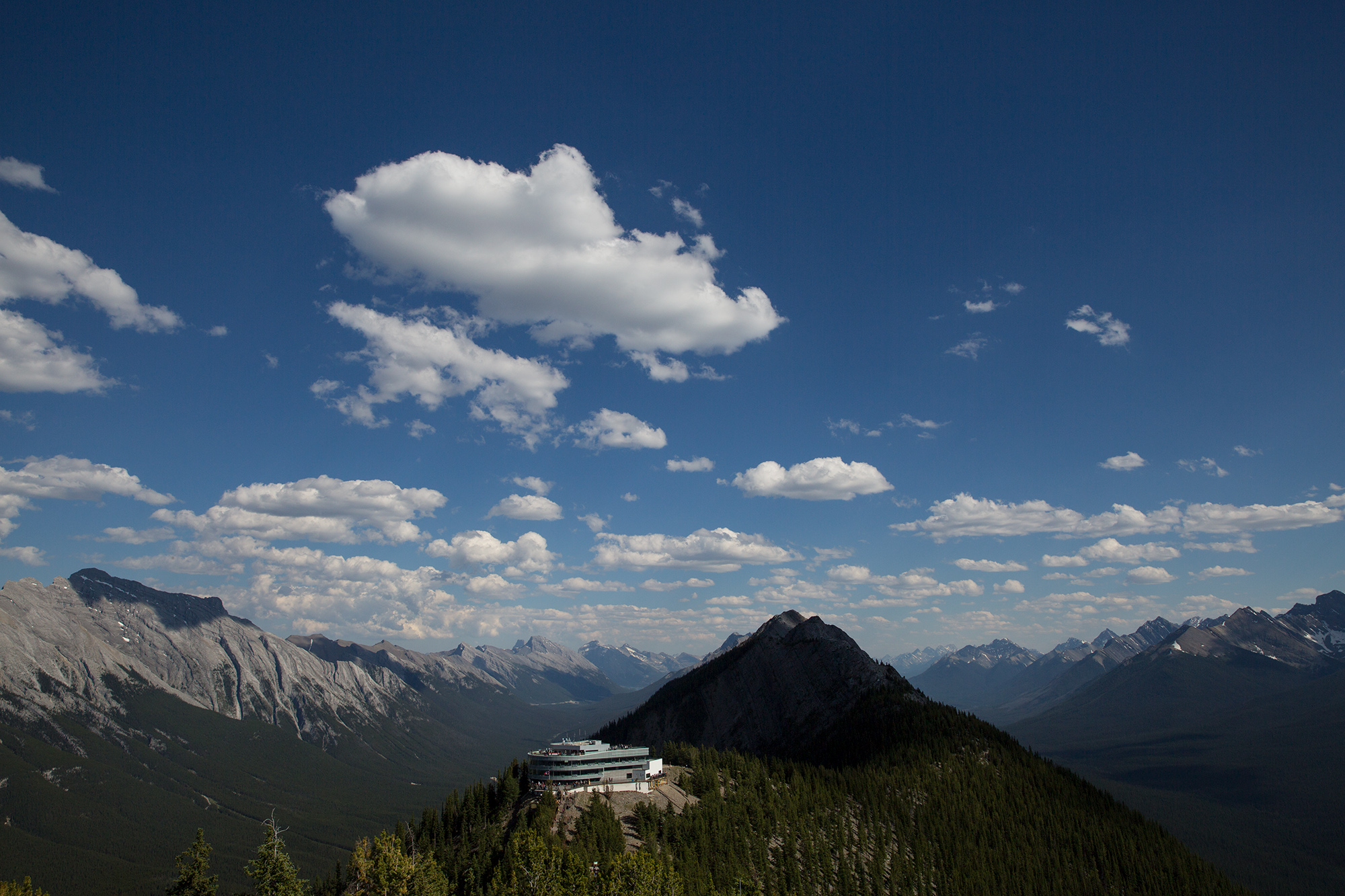 The top of the Banff Gondola.