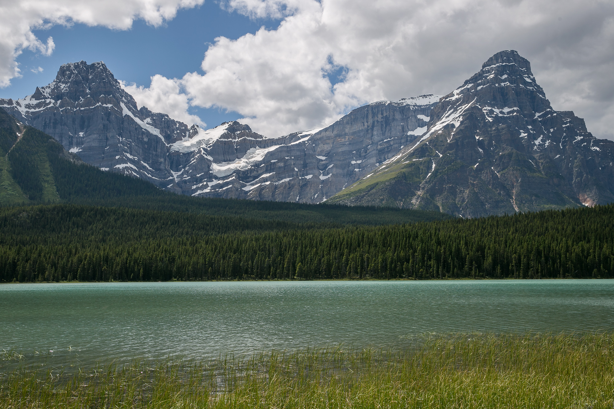 Stunning views along the Icefields Parkway.