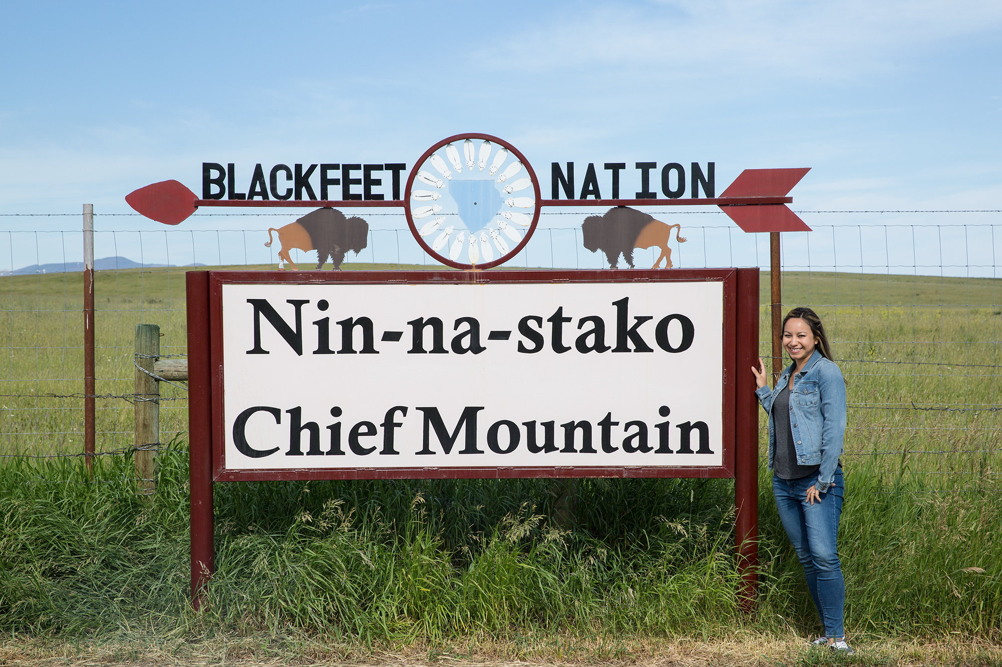 Entering the Blackfeet Nation from the North after returning from Canada.