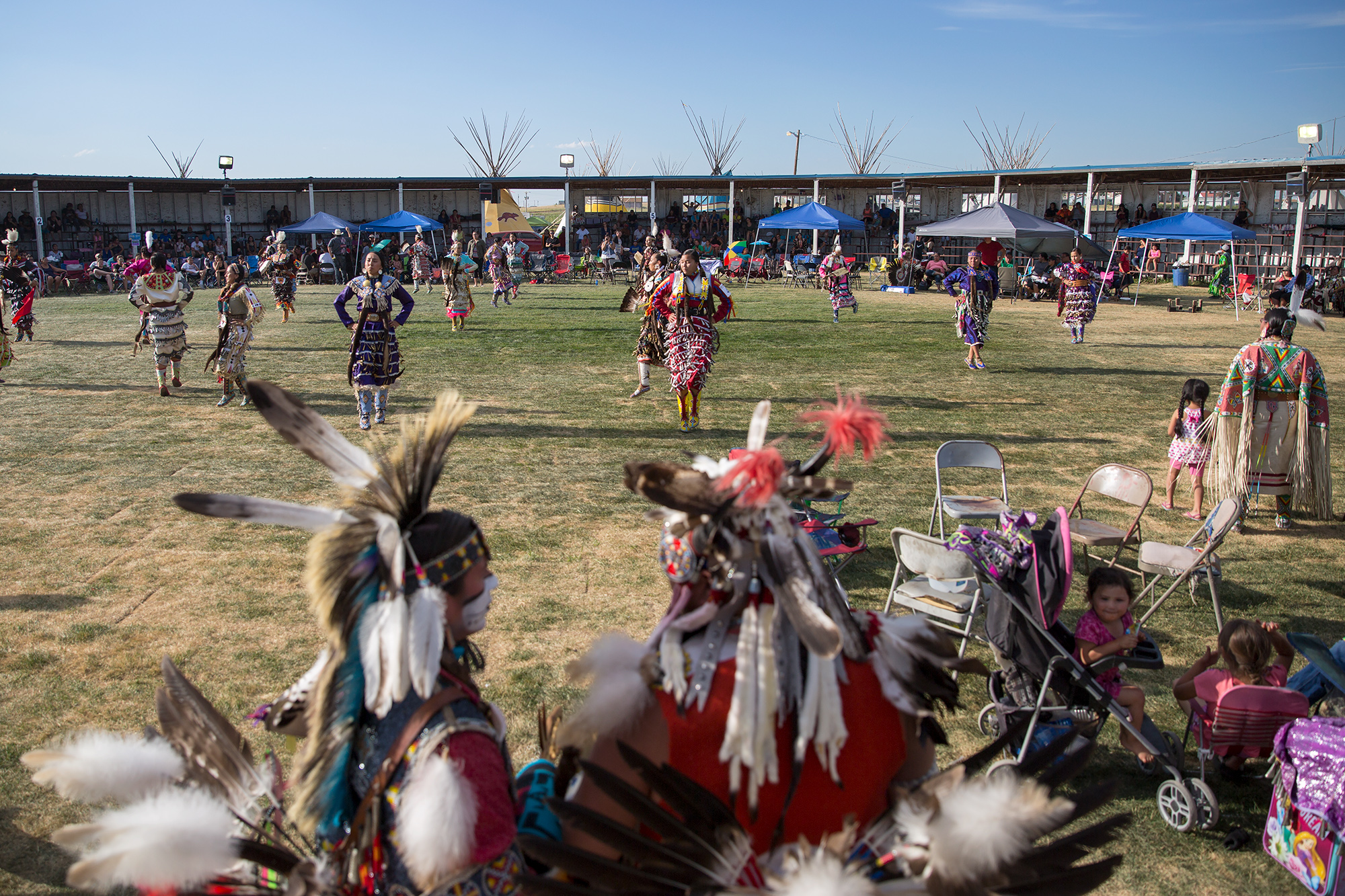 The pow wow was just one of many festivities that took place in Browning during the annual celebration.