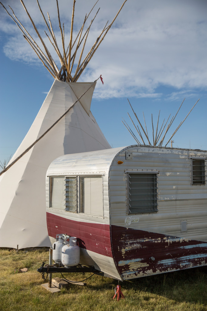 Accommodations for competitors at North American Indian Days in Browning, Montana.